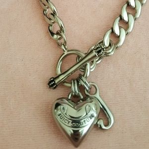 Juicy Couture Banner Heart Necklace Choker